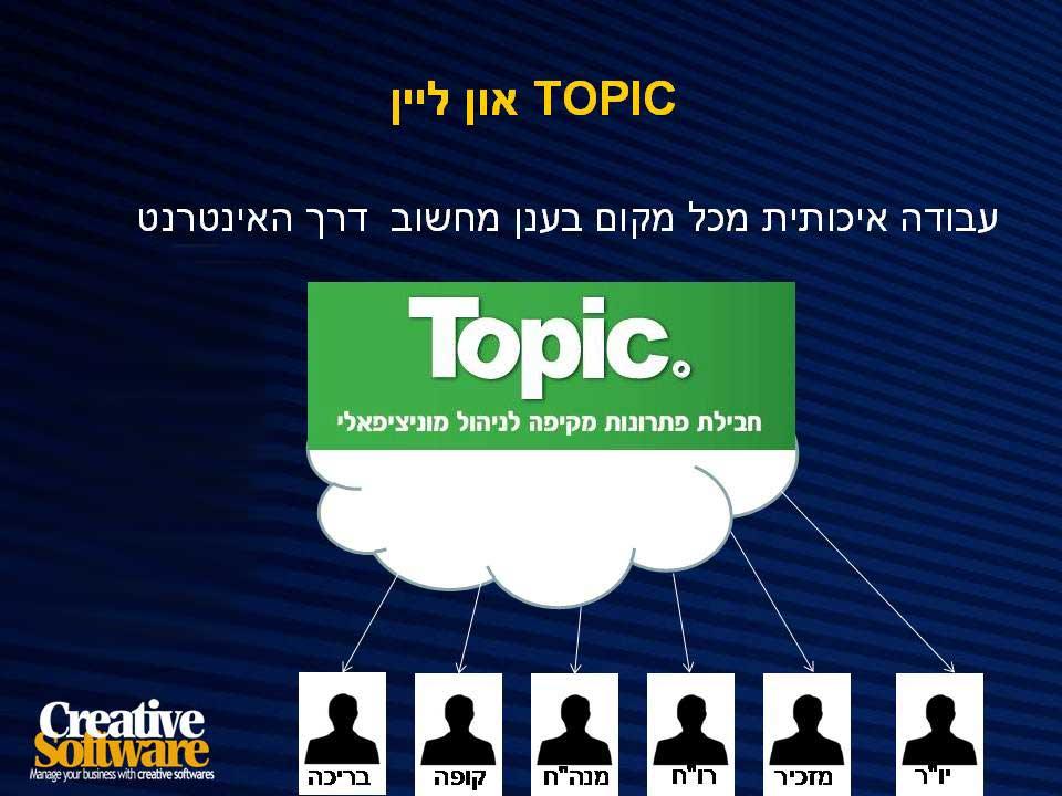Topic On LINE - חבילת פתרונות לניהול מוניציפלי מכל מקום